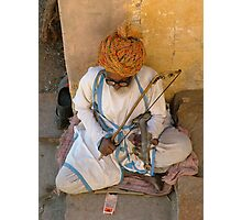 Street singer, India Photographic Print