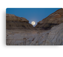 Moonrise in the Bisti Canvas Print