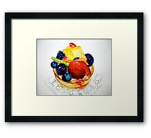 Delicious...Delectable Fruit Tart Framed Print