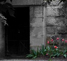 Mausoleum Entrance Flanked By Tulips by G. Patrick Colvin
