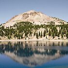 Mount Lassen on Lake Helen by Sarah Van Geest
