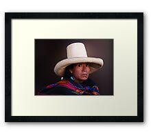 QUECHUA LADY - CAJAMARCA Framed Print