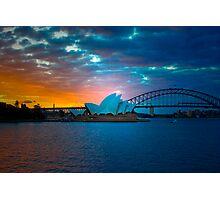 The Sydney Three - Sydney Harbour, Bridge and Opera House, Australia  Photographic Print