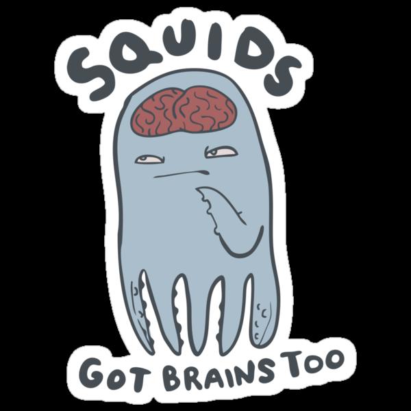 squids got brains too by Paul McClintock
