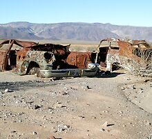 Rusty Cars In Death Valley by Christopher Toumanian