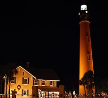 Ponce Inlet Lighthouse at Night by photobryan