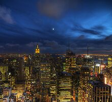 On top of the Rock by nightfall by JennieInNYC