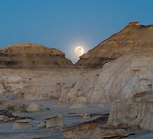 Full Moon in the Bisti by TheBlindHog