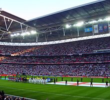 England Football Team - Wembley Stadium by Tom Clancy