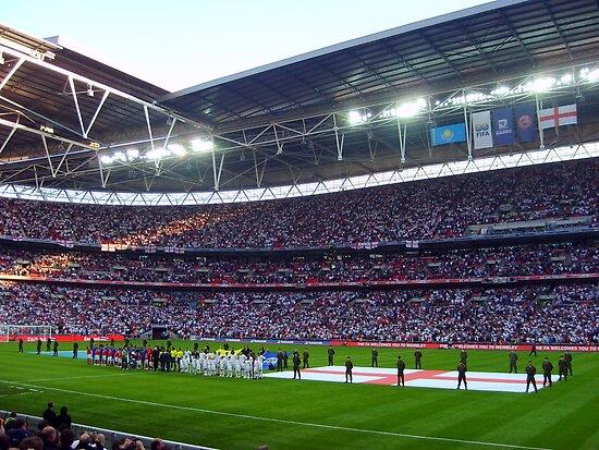 England Football Team - Wembley Stadium by Tom Clancy