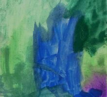 Watercolour (Celina 3½ years old)  by Tove