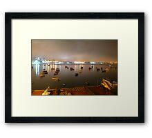 the bay.... Baía de Cascais Framed Print