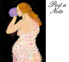 Poster/Note-Board, 'Mother with Violets' Vintage by luvapples downunder/ Norval Arbogast