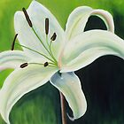 """Bangalow Lily "" by Elaine Green"