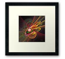 'Light Flame Abstract 206' Framed Print