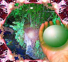 Healing Planet: Rainbow Warriors Mandala 4  by Christopher Birtwistle-Smith