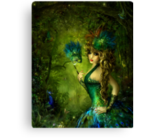 Peacock lady Canvas Print