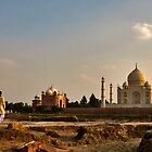 Behind The Taj by Rene Edde
