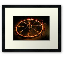 Dharma Wheel Puja Framed Print