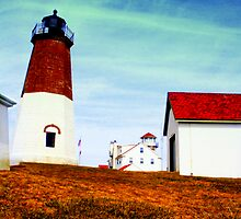 Pt Judith Lighthouse RI by rtographsbyrolf
