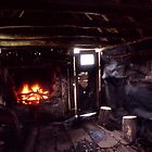 Inside Wallace's hut by William Murray