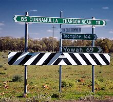 CUNNAMULLA THARGOMINDAH SIGNPOST © by Vicki Ferrari