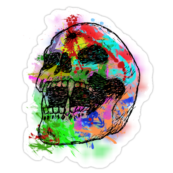 Colorful Skull by gagman