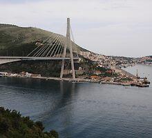 Dr. Franjo Tudjmann Bridge, Dubrovnik, Croatia by jon  daly