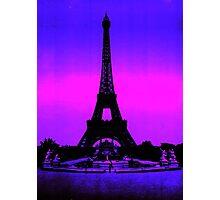 Eiffel Tower Silhouette Photographic Print