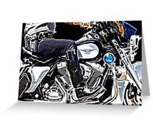 Motorcycle Cop Greeting Card