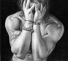 The Male Figure - Pencil Drawings by David J. Vanderpool by David J. Vanderpool