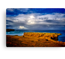 """At The Edge, In The Face Of A Storm"" Canvas Print"