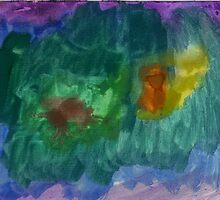 Watercolour 2 (Celina 3½ years old) by Tove