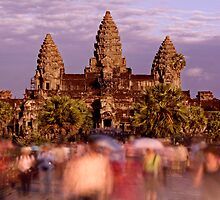 Rush Hour at Angkor Wat by Lesley Williamson