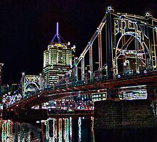 Clemente Bridge Posterized by wbelajac