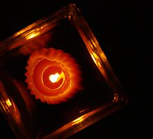 Candle in Red by Lisa Brower