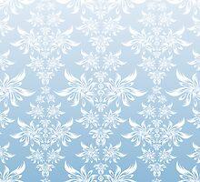 Blue decorative ornament by Olga Altunina