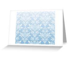 Blue decorative ornament Greeting Card