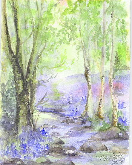 Bluebell Woods by fi-ceramics