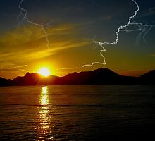 Cabo`s electrifying sunset by DanTheBugleMan