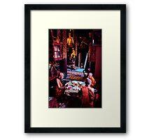 Thai temple scene Framed Print