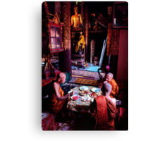 Thai temple scene Canvas Print