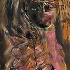 Girl with Headband and Pink Breast by Peter Searle ( the Elder )