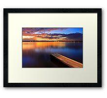 Swan River Jetty - Western Australia  Framed Print
