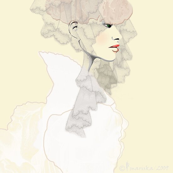 Haute Epoch / Elegant Time / Fashion Illustration by Mariska