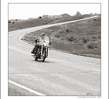 """Harley-Davidson, On The Road at Hawk Springs, Wyoming"" by Don Bailey"