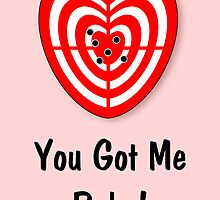You Got me Babe Card by jean-louis bouzou