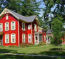 Red House of Lawrence Michigan by Dennis Burlingham