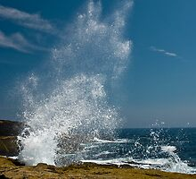 Exploding Surf, Schoodic Point, Maine by MarkEmmerson