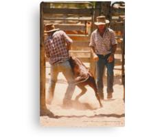 Cowboys At Work © Vicki Ferrari Canvas Print